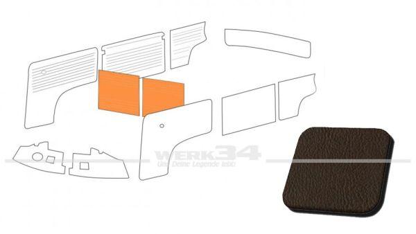 Verkleidung Trennwand mit/ohne Durchgang, braun, passend für T2 Bus 08/68-07/76 Außenteil