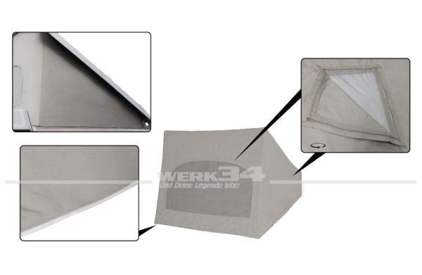 Zelt für Westfalia Hubdach / Klappdach, grau, passend für Modelle ab 08/85-