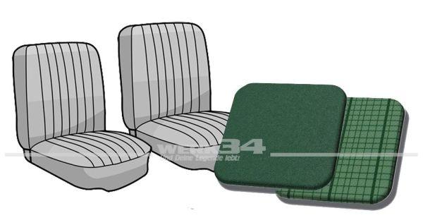 Sitzbezug Einzelsitze vorne Bus '63-'67 comogrün/phosphor