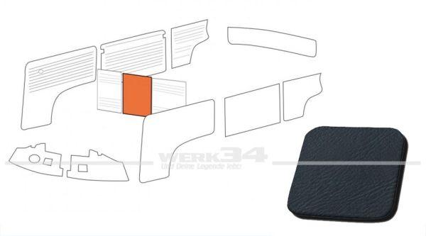Verkleidung Trennwand ohne Durchgang, blau, passend für T2 Bus 08/68-07/76 Mittelteil