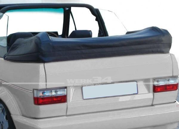 PVC Persenning, schwarz, passend für Golf I Cabrio