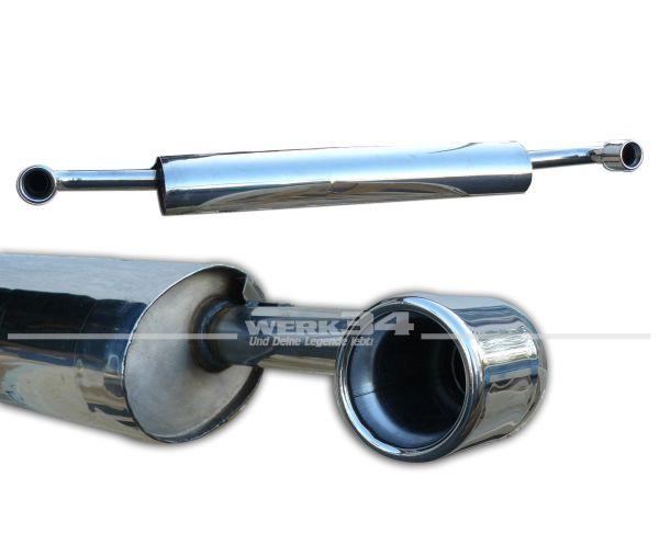 Endschalldämpfer aus Edelstahl mit zwei polierten 70mm Endrohren