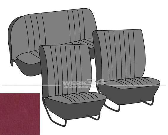 Satz Sitzbezüge, Käfer Limousine, 64-67, Classic, ziegelrot