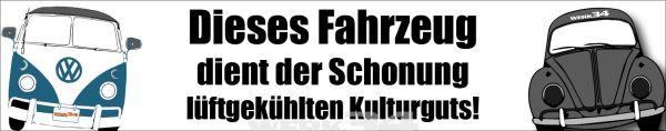 "Aufkleber ""Kulturgut"""
