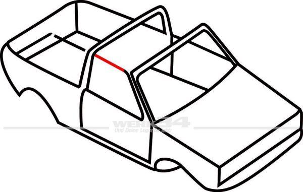 Verdeckdichtung vorn, rechts, passend für Golf I Cabrio