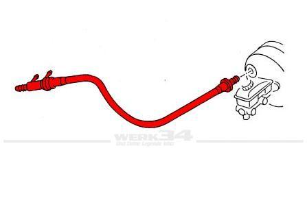 Unterdruckrohr zwischen Ansaugbrücke und Bremskraftverstärker Golf II 1.6 - 1.8 Vergaser