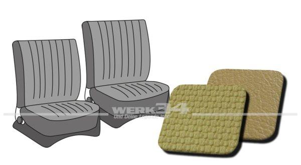 Sitzbezüge vorne, passend für Typ 3, Bj. 1965-72, Korbmuster ocker