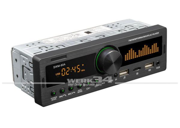 Retro Radio, 80er Optik, 12V, mit Bluetooth, USB etc.
