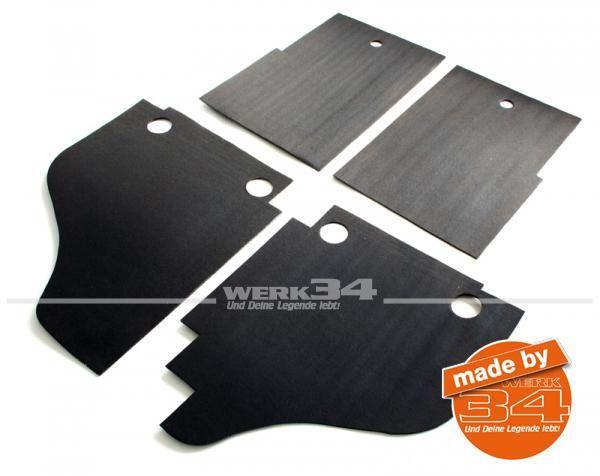 4-tlg. Satz Dämmmatten für Bodenplatte, passend für alle Karmann Ghia Modelle und Kübel
