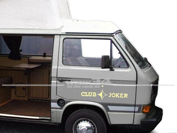 Aufkleber Set CLUB JOKER für Bus T3, beige