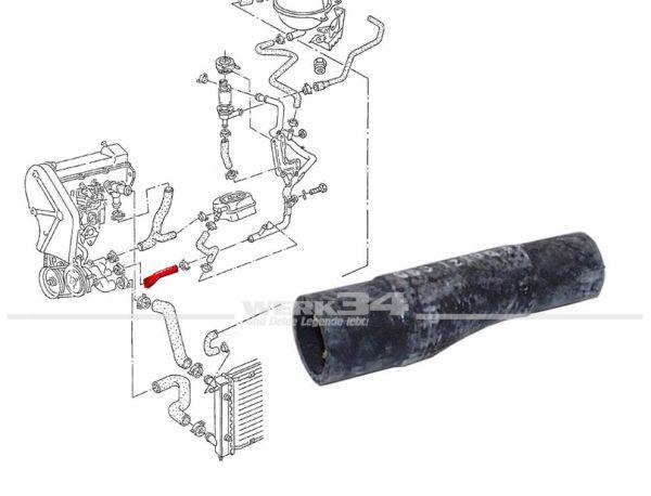 Kühlerschlauch Wasserpumpe zu Wasserrohr, passend für Golf II