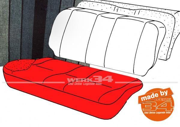 Bezug für Sitzfläche Rücksitzbank, gestreift schwarz/petrol, 2-türer