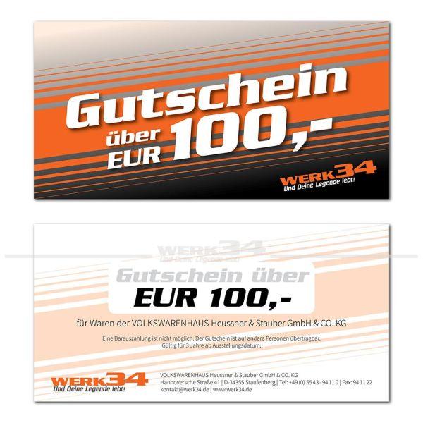 Geschenk - Gutschein im Wert von EUR 100,- Post