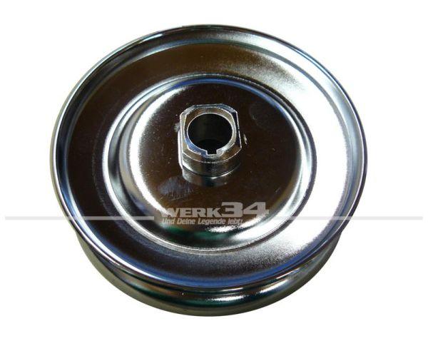 Riemenscheibe Lichtmaschine Chrom, 105 mm Durchmesser