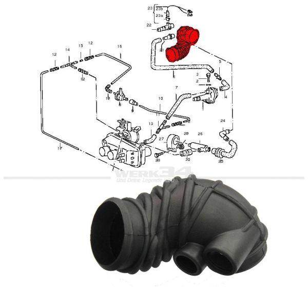 Luftansaugschlauch, Bus T3 1.9l Motor DH