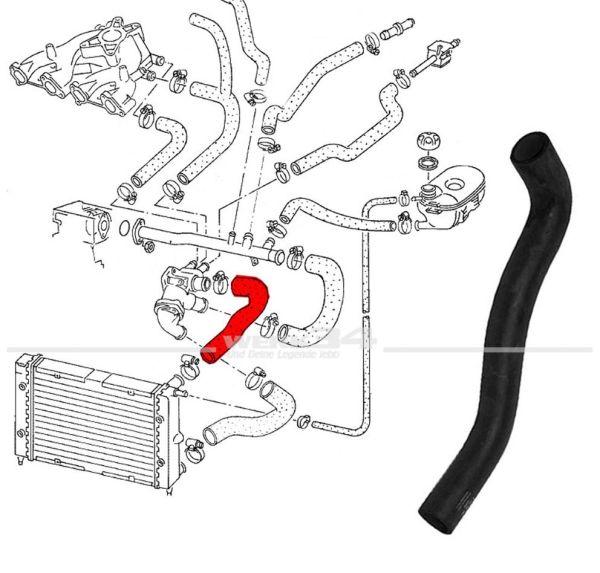 Kühlerschlauch, oben, Vorlauf, passend für Golf II