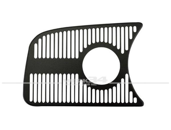 Armaturenbrettziergitter, links, 1 Loch 52 mm, schwarz