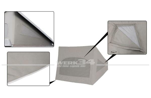 Zelt für Westfalia Hubdach / Klappdach, passend für Modelle von 08/73-07/79, grau