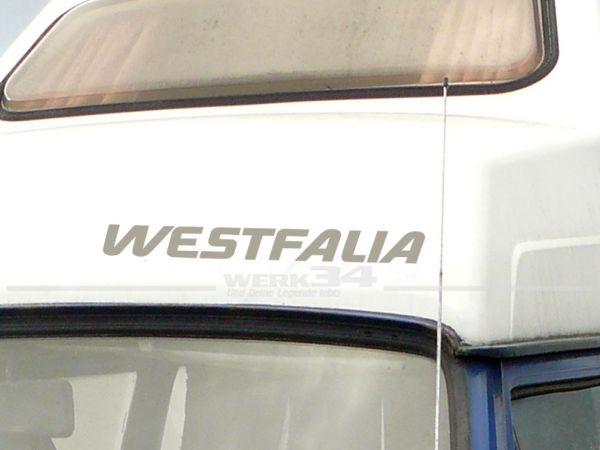 Aufkleber WESTFALIA, silber, Schriftzug für Bus T2 und T3