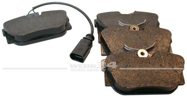 Bremsklötze, hinten, mit Sensor, 17,3 mm, Bus T4, 15 Zoll