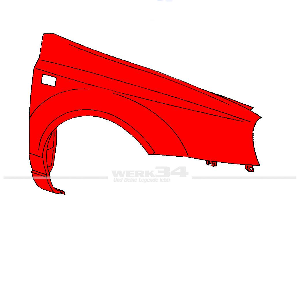 kotfl gel rechts f r vw golf 3 cabrio 95 hauben. Black Bedroom Furniture Sets. Home Design Ideas