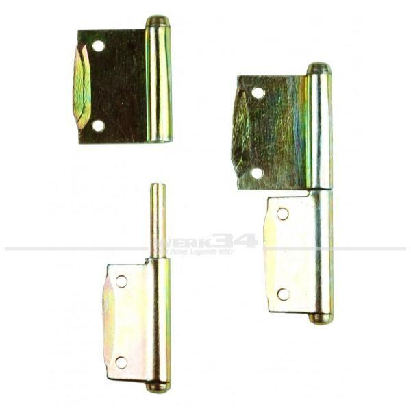 Satz Scharniere, für rechts öffnende Tür, 2 Stück, passend für Westfalia T1 SO23, SO43 etc.