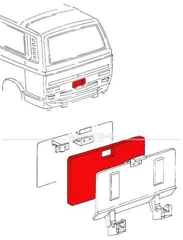 Dichtung / Schaumstoff für Wartungsklappe, passend für Bus T3