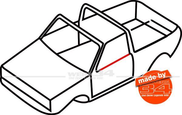 Innenschachtdichtung für vorne oder hinten, passend für Golf I Cabrio