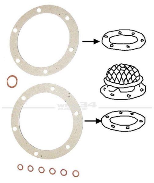 Ölsiebdichtsatz 25 bis 37kW (34 bis 50PS), 10er-Pack