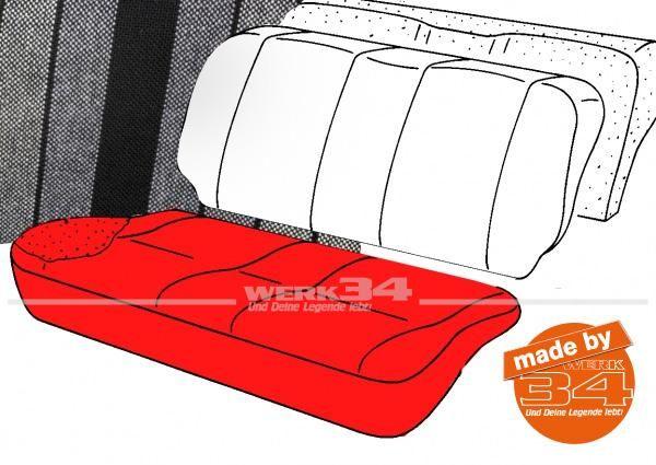 Bezug für Sitzfläche Rücksitzbank, gestreift schwarz/grau, Golf I 2-türer