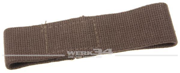 Türfangband für Klapptür, kurz, braun, aus Stoff, passend von 55-60