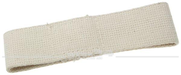 Türfangband für Klapptür, kurz, altweiß, aus Stoff, passend von 55-60