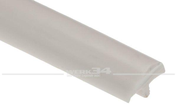 W/T-Profil gepolstert, weiß/crème, Preis pro Meter