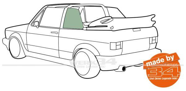 Seitenscheiben hinten Golf I Cabrio grüngetönt