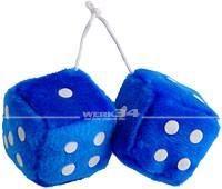 Fuzzy Dice, blau