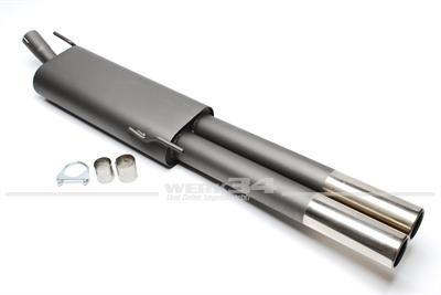 Sportendschalldämpfer Golf III Variant + Vento, Endrohr 2x76mm