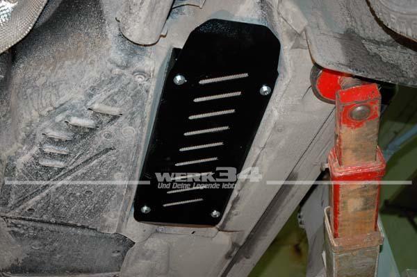 Schutzplatte für Dieselkühler passend für Bus T5, 2mm Stahl