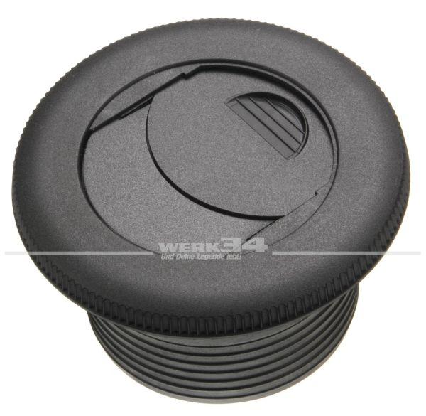 Ausströmer, verschließbar für 75 mm Warmluftschlauch