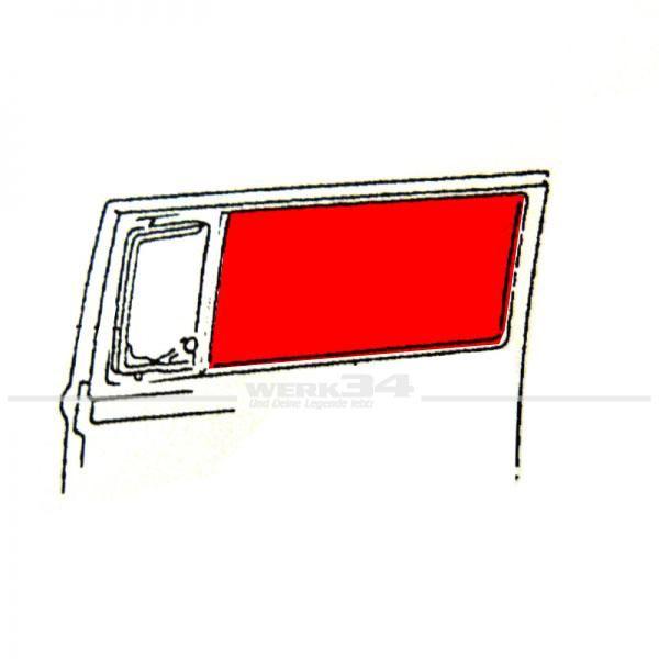 Seitenfenstersch. feststehend mitte, gebraucht, passend für Bus T2 Modelle mit Drehfenster