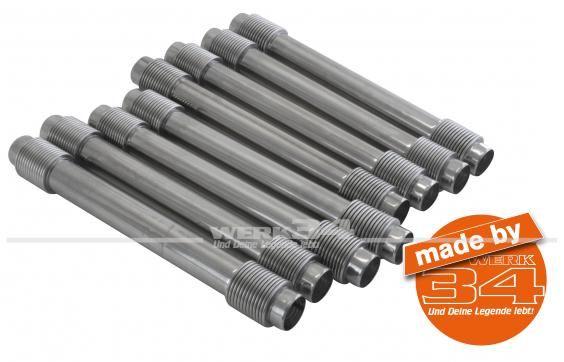 Satz Stößelschutzrohre, Edelstahl, passend für 29 bis 37 kW (40 bis 50 PS)