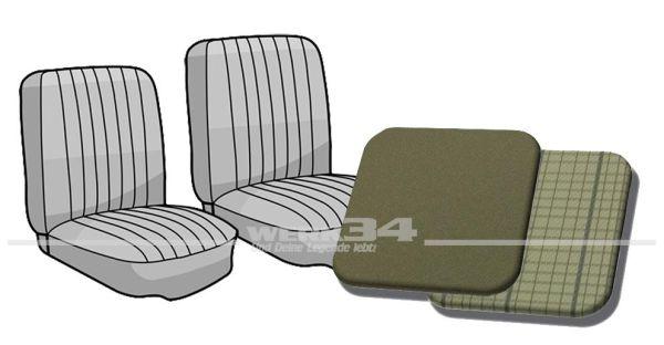 Sitzbezug Einzelsitze vorne Bus '63-'67 basaltgrau/silberbeige