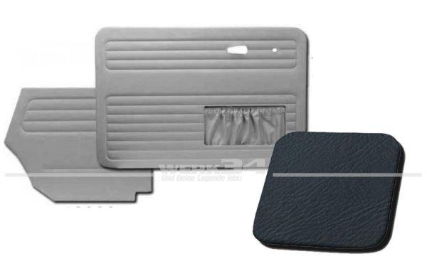 Verkleidungssatz 4-tlg. in Farbe blau, passend für alle Cabrio ab Bj.8/72