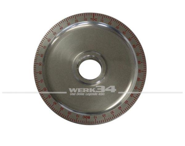 Riemenscheibe aus Aluminium mit roter Gradeinteilung, im Durchmesser wie Serie, passend für Typ1