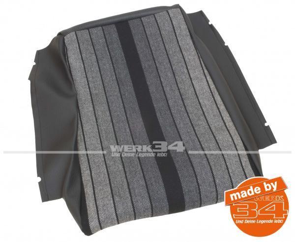 Sitzkissenbezug schwarz/grau gestreift