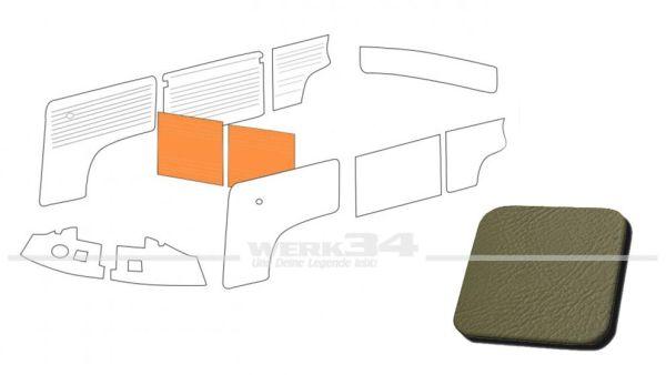 Verkleidung Trennwand mit/ohne Durchgang, grau, passend für T2 Bus 08/68-07/76 Außenteil