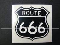 "Aufkleber ""ROUTE 666"""