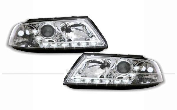Scheinwerfer klarglas im LED Tagfahrlicht Look, für Passat 3BG