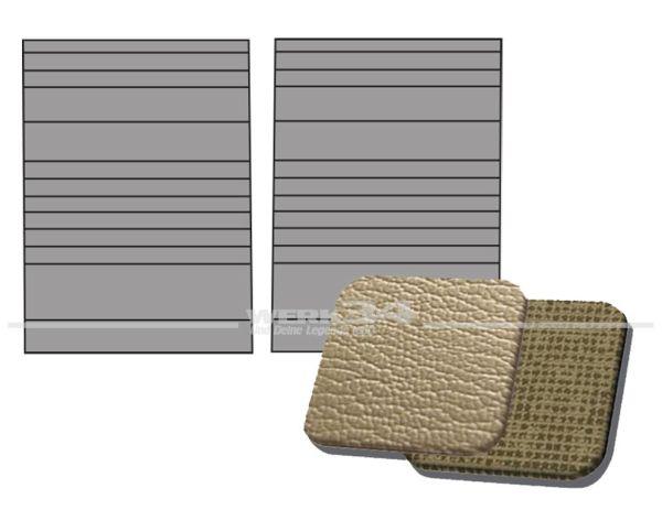 Verkleidung Trennwand außen rechts und links, in Platin / Gitterplatin