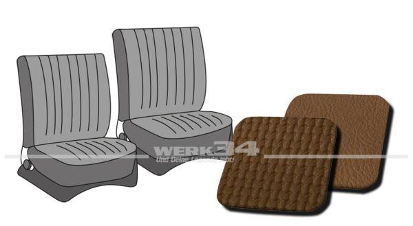 Sitzbezüge vorne, passend für Typ 3, Bj. 1965-72, Korbmuster sand