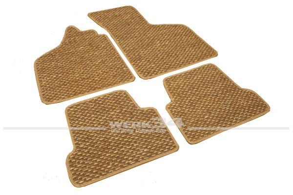 Kokosmatten, 4 –teilig, passend für Typ 3, 61-73 alle Modelle, beige/braun